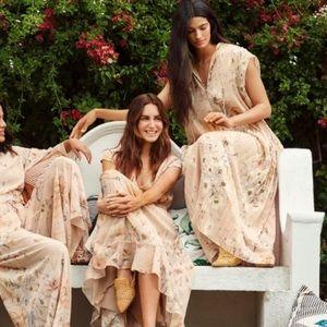 H&M Conscious pleated chiffon floral maxi dress